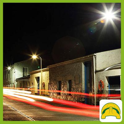 Street lighting in Jamestown
